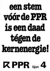 PPR: stop kernenergie; Borssele dicht!