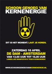 Duizenden op Dam hebben schoongenoeg van kernenergie