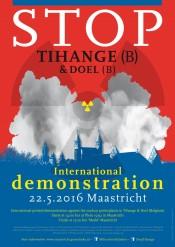 Demonstratie Maastricht tegen Tihange
