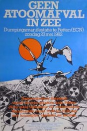 Manifestatie geen atoomafval in zee